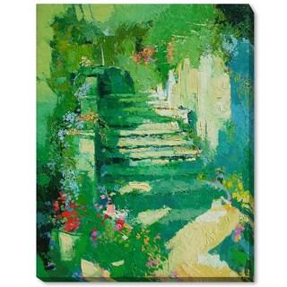 Alex Bertaina 'Escalier Fleuri' Framed Fine Art Print