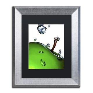 Roderick Stevens 'Granny Splash II' Black Matte, Silver Framed Wall Art