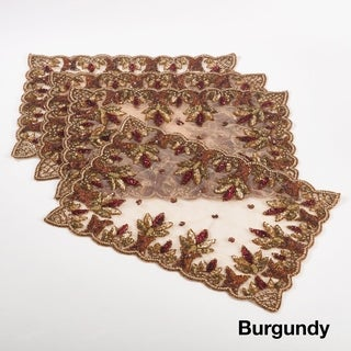 Hand Beaded Design Placemat (Set of 4) (2 options available)