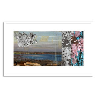 Gallery Direct Deal, Benjamin 'Floral Coastline IV' Framed Paper Art