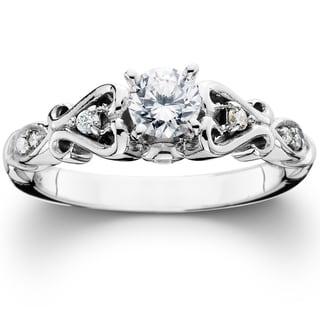 Link to 14k White Gold 1/ 2ct TDW Vintage Diamond Engagement Ring Similar Items in Wedding Rings