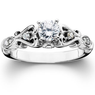 14k White Gold 1/ 2ct TDW Vintage Diamond Engagement Ring