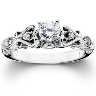 14k White Gold 1/ 2ct TDW Vintage Diamond Engagement Ring