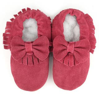 Augusta Baby Soft Sole Burgundy Leather Fringe with Bow Baby Shoes|https://ak1.ostkcdn.com/images/products/10677446/P17741290.jpg?impolicy=medium