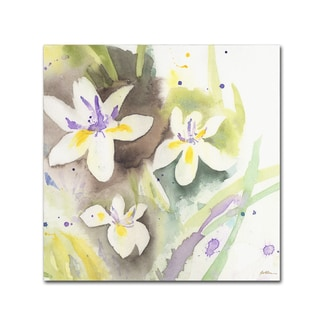 Sheila Golden 'White Iris' Canvas Wall Art