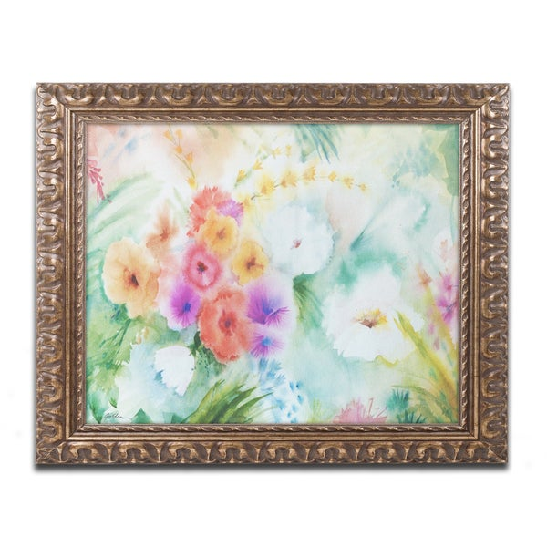Sheila Golden 'Napa Garden' Gold Ornate Framed Wall Art
