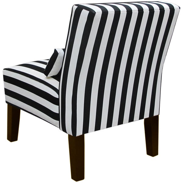 Skyline Furniture Canopy Stripe Black/White Armless Chair   Free Shipping  Today   Overstock.com   17741399