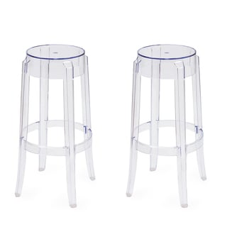 Adeco Crystal Dining Chair Taller Set of 2