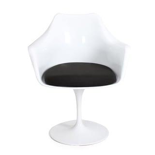 Adeco Tulip Armchair with Cloth Cushion