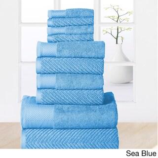 Elegance Spa 100-percent Egyptian Cotton Jacquard 10-piece Towel Set