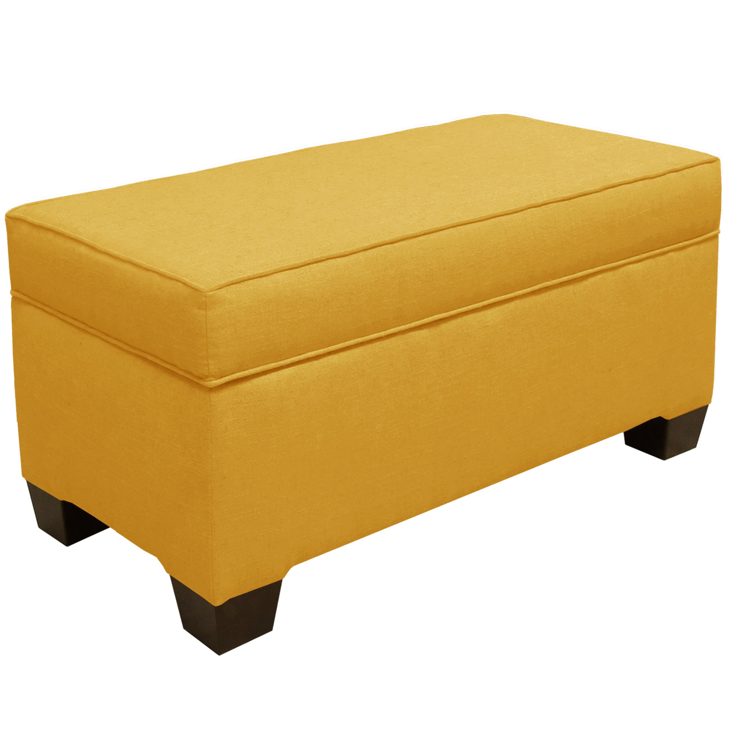 Groovy Skyline Furniture Linen French Yellow Storage Bench N A Gmtry Best Dining Table And Chair Ideas Images Gmtryco