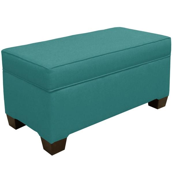 Skyline Furniture Linen Laguna Storage Bench