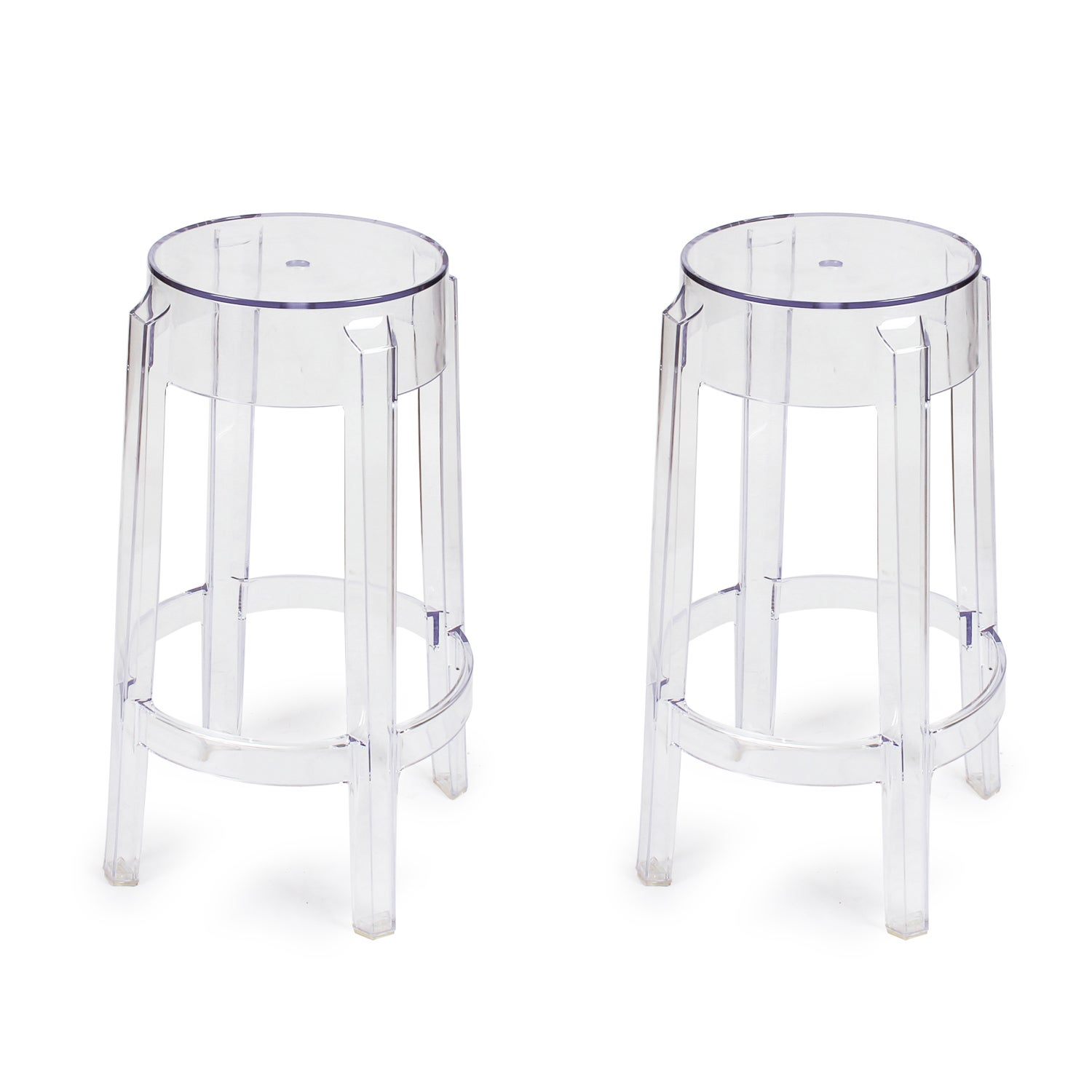 Adeco Crystal Dining Chair Set of 2 (clear) (Plastic)