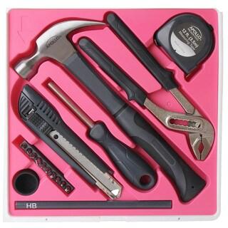 """17-piece """"The Basics"""" Tool Kit Pink"""
