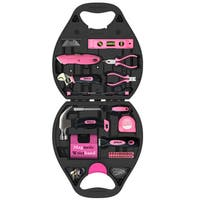 72-piece Household Tool Kit Pink