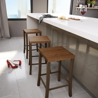 Amisco Ryan Metal and Wood Counter Stool