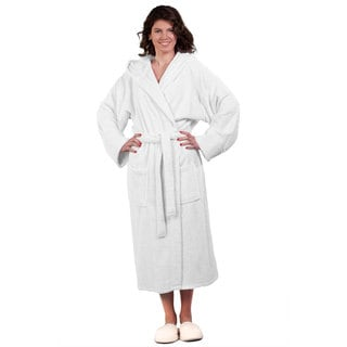 100-percent Pure Turkish Cotton Unisex Hooded Terry Bathrobe