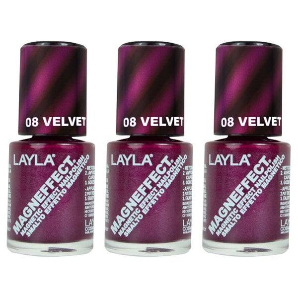Layla Magneffect Velvet Groove Nail Polish Pack Of 3