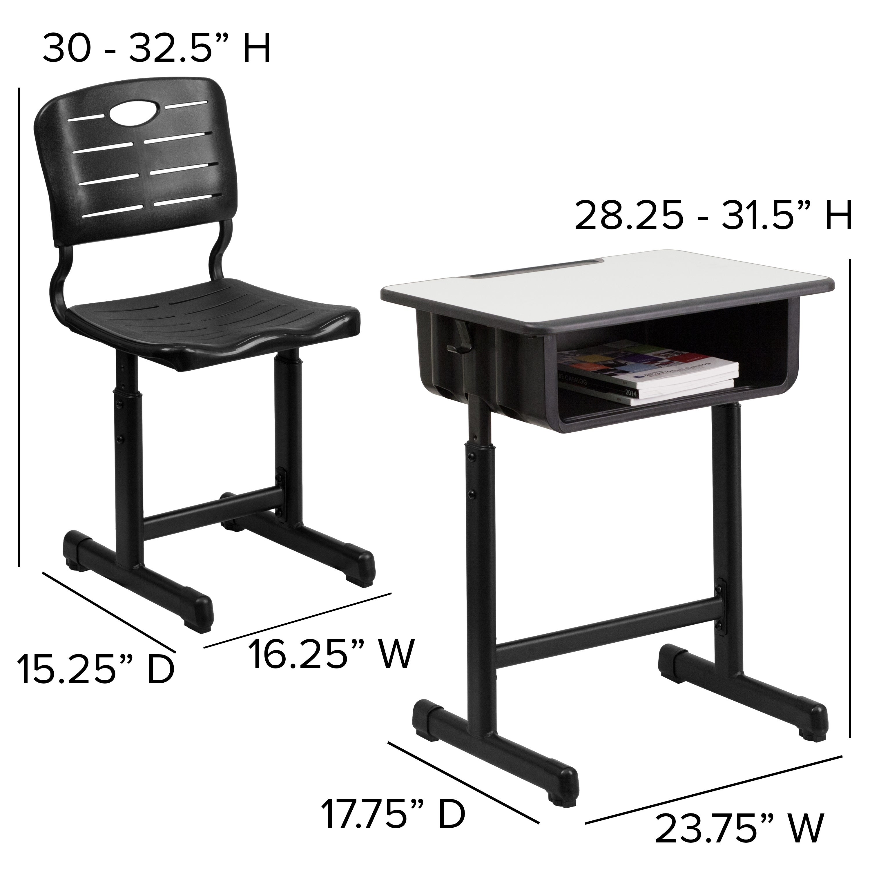 Admirable Adjustable Height Student Desk And Chair Cjindustries Chair Design For Home Cjindustriesco