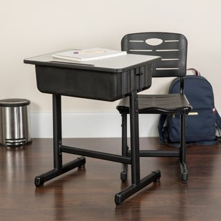 Adjustable Height Student Desk and Chai