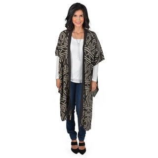 Journee Collection Women's Knit Asymmetrical Hem Ruana Shawl