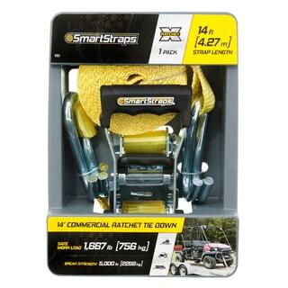 SmartStraps 14' 5000-pound RatchetX Tie Down 1 Pk Yellow