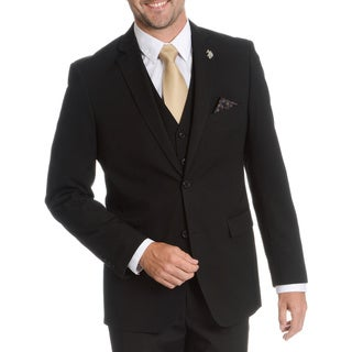 U.S. Polo Men's 'Modele' Modern Fit Black Suit Separate Jacket (5 options available)