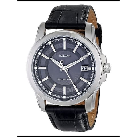 Bulova Men's Precisionist Leather Strap Watch-