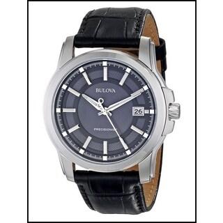 Bulova Men's Precisionist Leather Strap Watch- 96B158