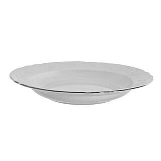 10 Strawberry Street Vine Silver Line Rim Soup Set of 6