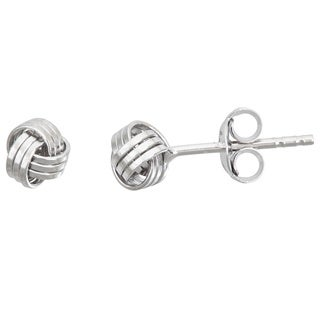 Decadence Sterling Silver Love Knot Stud Earrings (3 options available)