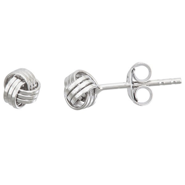 Decadence Sterling Silver Love Knot Stud Earrings