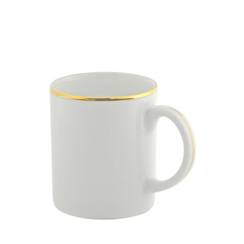 10 Strawberry Street Gold Line C-Handle Mug Set of 6