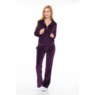 White Mark Women's Velour Suit
