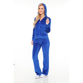 White Mark Women's Velour Suit (More options available)