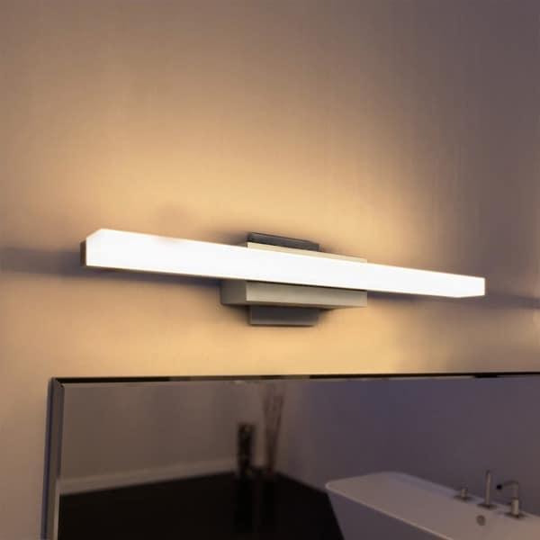 Bathroom Light Fixtures Overstock vonn lighting vmw11000al procyon 23-inch led low profile satin