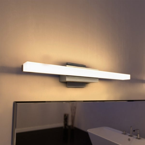 Vonn lighting vmw11000al procyon 23 led bathroom light silver