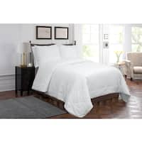 Grand Luxe White Cotton Silk Filled Hypoallergenic Comforter