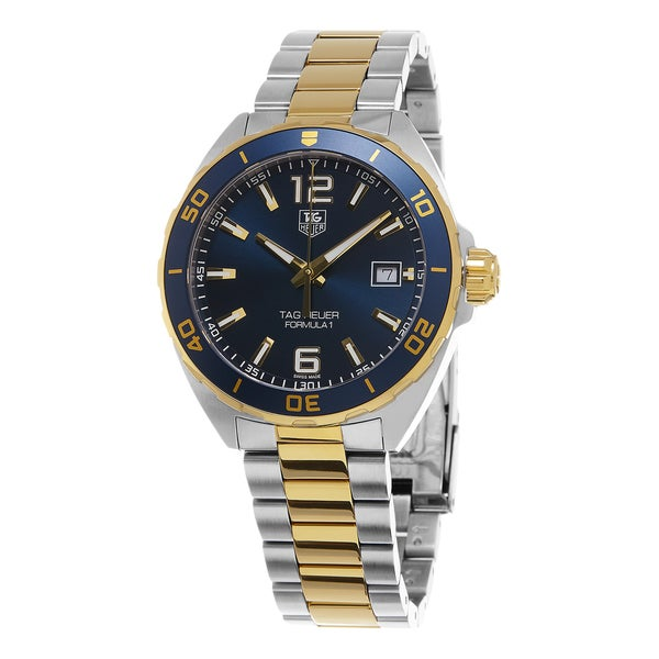 940acfb20d5 Shop Tag Heuer Men s  Formula 1  Blue Dial Stainless Steel Two Tone Swiss  Automatic Watch - Free Shipping Today - Overstock - 10678840