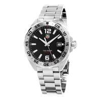 Tag Heuer Men's WAZ1112.BA0875 'Formula 1' Black Dial Stainless Steel Swiss Quartz Watch - silver
