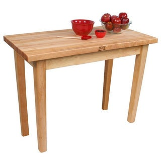 John Boos C03-O Country Maple 60x24x35 Work Table With Bonus Henckels 13 Piece Knife Block Set