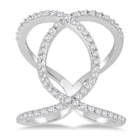 Marquee Jewels 5/8 Carat TW Diamond Open Infinity Link Ring in 14K White Gold