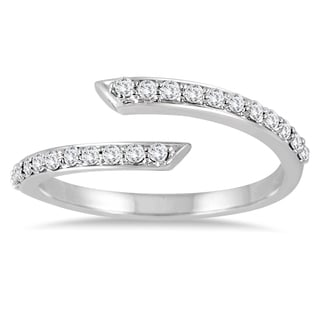 Marquee Jewels 1/3 Carat TW Split Bypass Diamond Ring in 14K White Gold