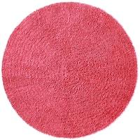 Pink Shagadelic Chenille Twist (2'x2') Round Shag Rug - 2'