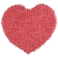 "Pink Shagadelic Chenille Twist (20x24"") Shag Heart - 1'8"" x 2'"