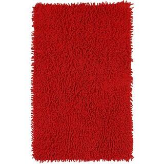 """Red Shagadelic Chenille Twist (21""""x34"""") Shag Rug"""