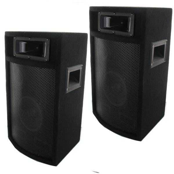 speakers studio dj audio monitor acoustic way 1000 pa inch watt pro watts speaker floor pair