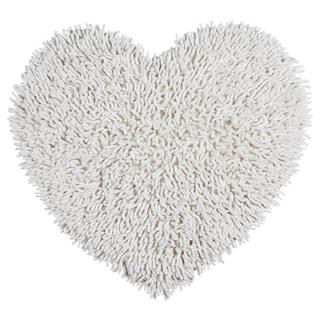 """White Shagadelic Chenille Twist (20x24"""") Shag Heart"""