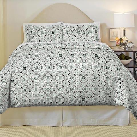 Pointehaven Ankara Heavy Weight Cotton Flannel 3-piece Duvet Set