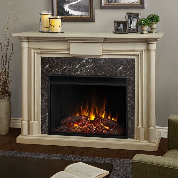 Shop Real Flame Maxwell Grand Whitewash Electric 57 6 Inch